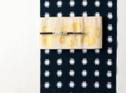 久留米絣-現代的な色柄、昔ながらの伝統-水墨(綿100%・反/誂)