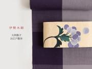 【伊勢木綿】大判格子-お江戸散歩