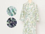 ワンピ襦袢-半衿つけ不要!着物下着はこれ1枚でOK-サルビアの花束(3色・綿100%)