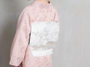 <ご予約品>美しいきもの掲載品-博多織 八寸名古屋帯ーパヴォ(メーカー直送・受注生産品)