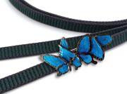 【数suu】帯留め-青い蝶々