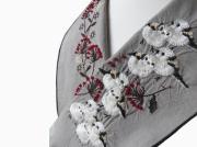 <ご予約品>富士商会 - ペタコさんの刺繍お半衿-シマエナガ(数量限定・12月上旬お届け)