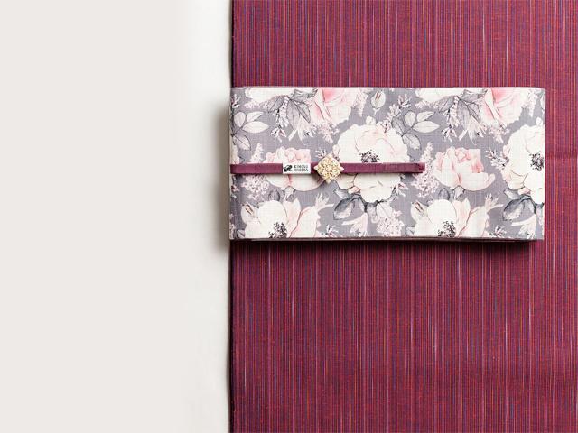 【遠州綿紬】爽やかな彩りと手頃な価格が魅力-曼珠沙華(水通し込み・反/誂)