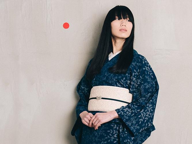 【久留米絣】 現代的な色柄、昔ながらの伝統ーDEEP FOREST(綿100%・反/誂)