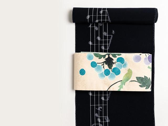 【久留米絣】-現代的な色柄、昔ながらの伝統-In My LifeーNavy(綿100%・反/誂)
