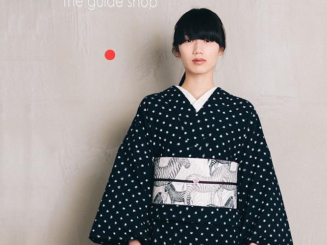 【久留米絣】 現代的な色柄、昔ながらの伝統ー水玉DROPS(綿100%・反/誂)