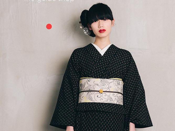 【久留米絣】 現代的な色柄、昔ながらの伝統ーレトロCROSS(綿100%・反/誂)