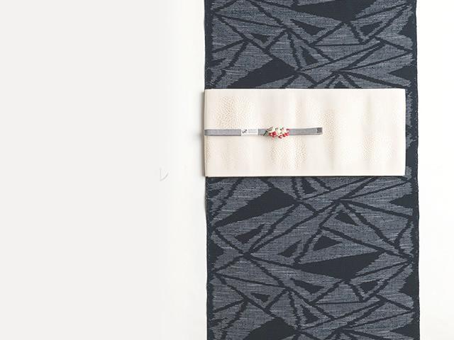 【久留米絣】-現代的な色柄、昔ながらの伝統ー水晶クリスタル(綿100%)