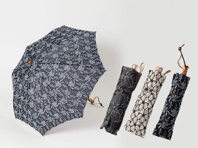 新作追加!折りたたみ・UV撥水加工済- レースの日傘