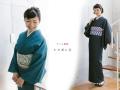 【デニム着物】-シャボン玉(送料無料・2色)