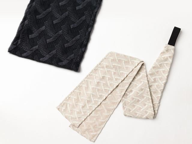 【三連仮紐】 帯結びが簡単に!ヘアターバンや帯揚げ代わりにも!ーMOGA (2色)