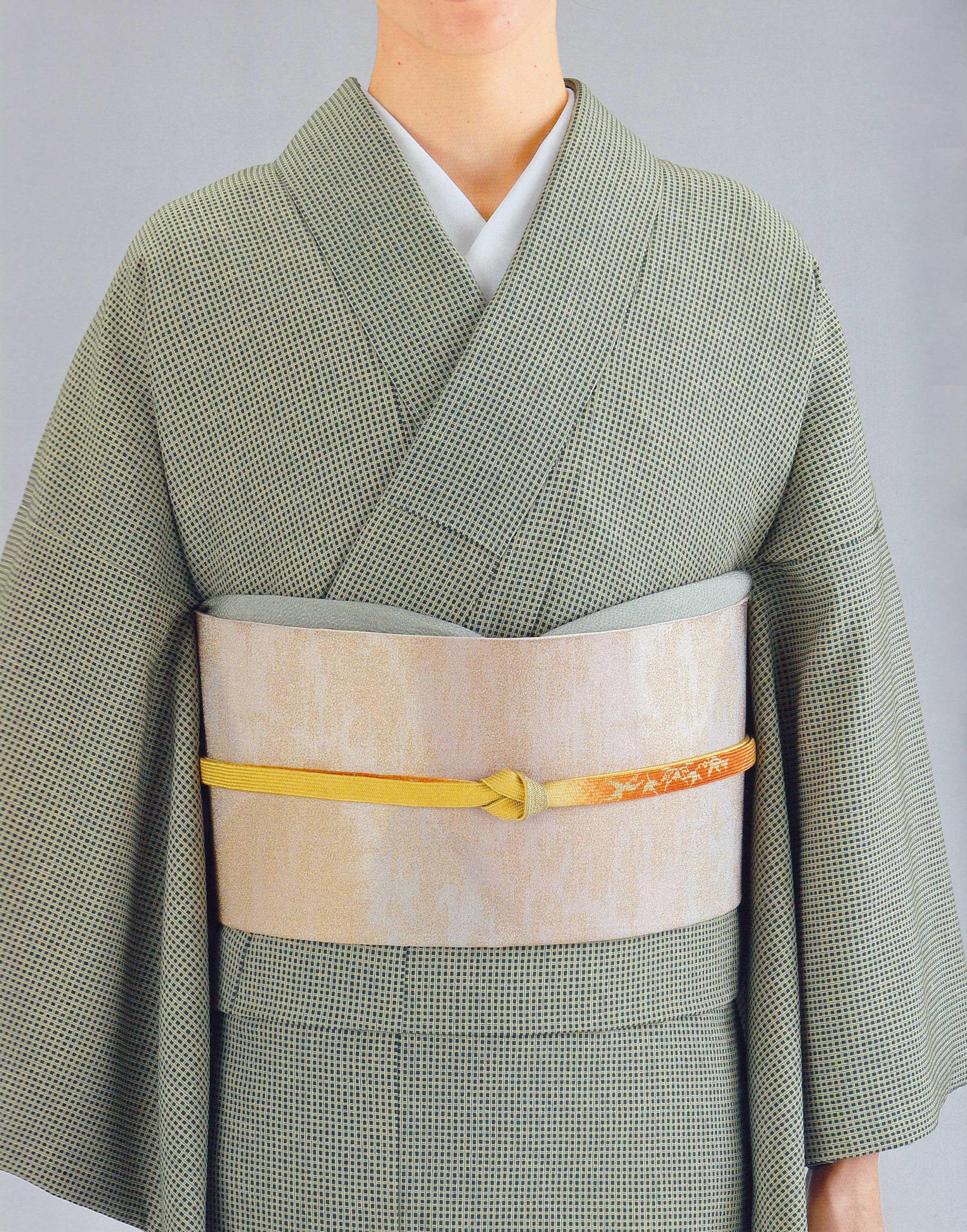 千歳緑綾格子江戸小紋