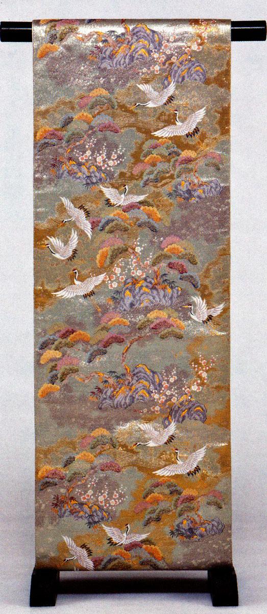 松寿群鶴紋
