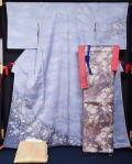 着物セット 未使用品 辻が花訪問着と西陣袋帯、長襦袢、帯揚げ、帯〆、重ね衿の6点セット
