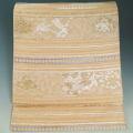 袋帯 幻の絹 歓喜小石丸 宮廷唐織 横段に唐花・龍模様