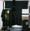 男物大島紬4点セット ★送料無料 【リサイクルきもの・リサイクル着物・アンティーク着物・着物買い取りの専門店】