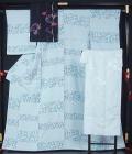 未使用美品 小紋と京袋帯、長襦袢のセット