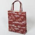 【日本製】新品 和装バッグ (1) 鳥獣戯画 ブラウン 手提げバッグ