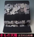 夏物 袋帯 西陣織 絽 (3) 横段葡萄文様
