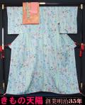 着物4点セット 小紋・名古屋帯・帯揚げ〆 絞り辻が花