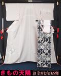 夏物 新品 絽の訪問着と袋帯、帯揚げ、帯〆の4点セット