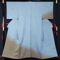 単衣 着物 訪問着 ぼかしに蝶模様 巾広サイズ 高島屋 正絹