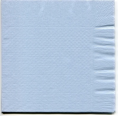 4折カラー紙ナプキンブルー