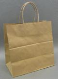 HW-4-Sサイズ茶|手提げ紙袋茶無地(未晒し無地)(25枚)