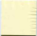 4折カラー紙ナプキンイエロー黄色