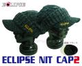 エクリプス ニットキャップ2 (ブラックホワイト)