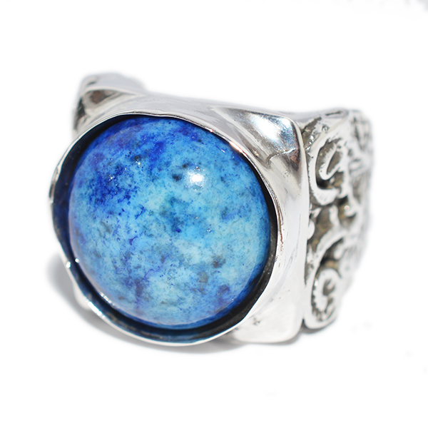 ALEX STREETER(アレックスストリーター) Lapis Lazuli Ionic Column Ring