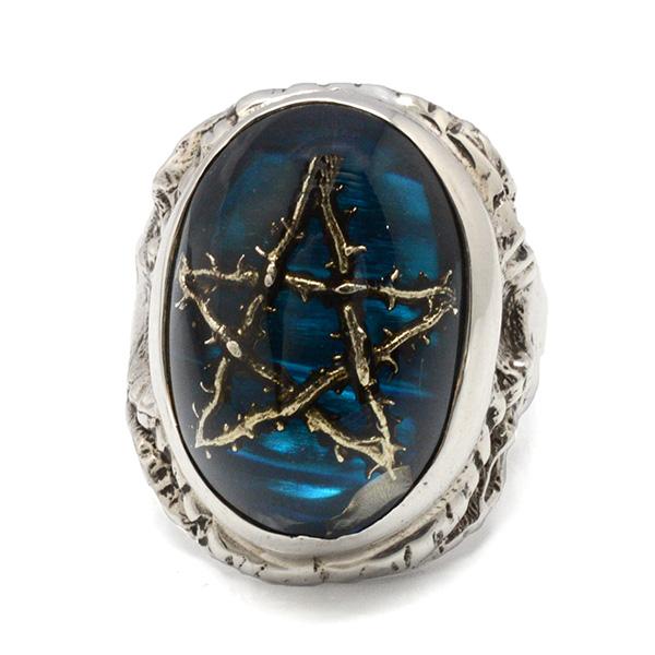 【アレックスストリーター リング】ALEX STREETER ANGEL HEART RING THORN STAR BLUE エンジェルハートリング青 ALR371TS