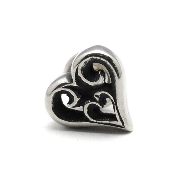 BWL(ビルウォールレザー) Tribal Heart Earring トライバルハートイヤリング E222 【1個=片耳用】