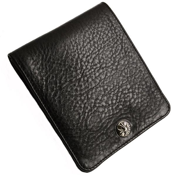 【クロムハーツ 財布】CHROME HEARTS One Snap Crossball Black Heavy Leather Wallet ワンスナップ・クロスボタン・ブラック・ヘビーレザー