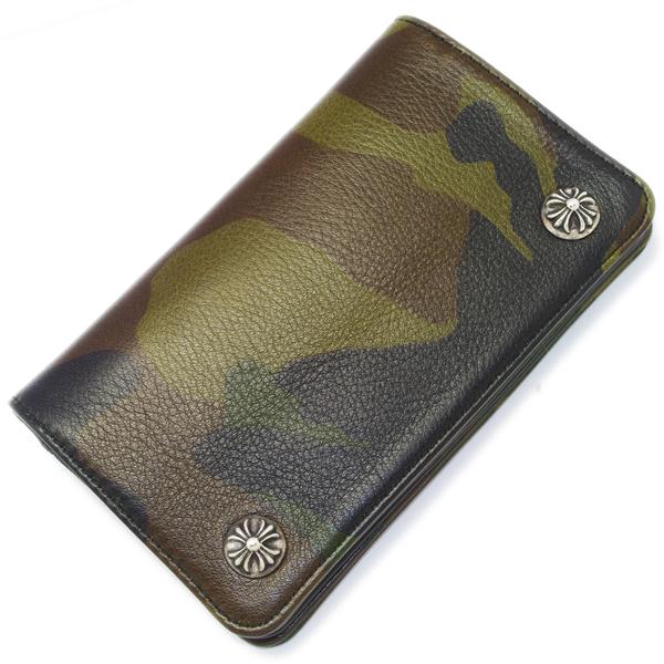 【クロムハーツ 財布】CHROME HEARTS 1 ZIP Wallet CAMO/Cross Buttons 1ZIPウォレット カモフラージュ