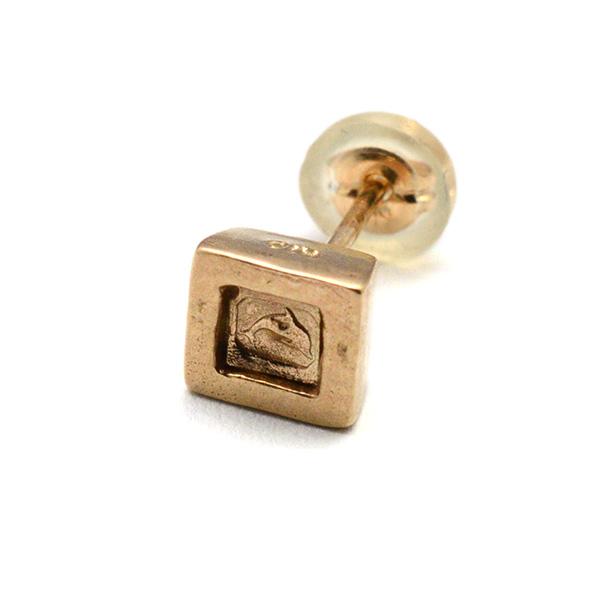 DELPHI(デルフィー)square hallmark pierce  dpi4-10KYG 【片耳】