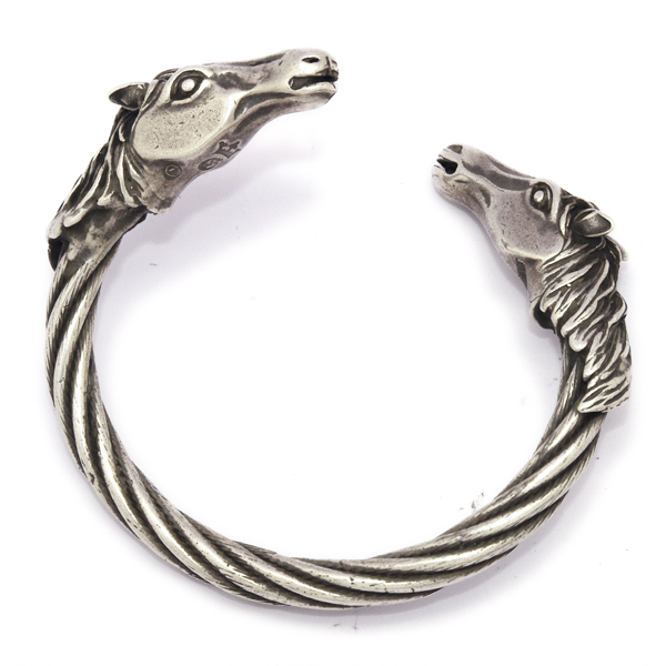 Gaboratory(ガボラトリー) Horse heads cable wire bangle /swbr002