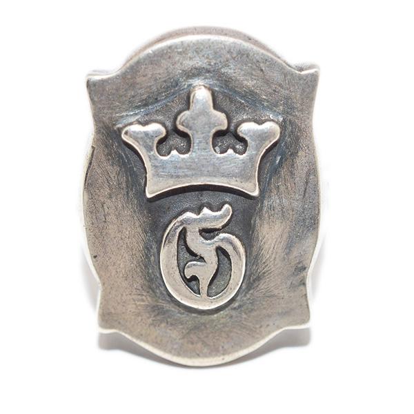 Gaboratory(ガボラトリー) Raised Old Shield Gaboratory Logo Ring レイズドオールドシールドガボラトリーロゴリング