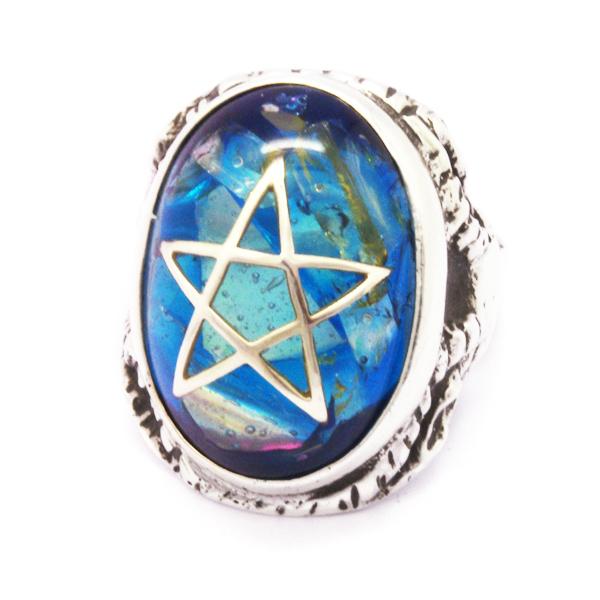 ALEX STREETER(アレックスストリーター)  ANGEL HEART RING CLACK BLUE エンジェルハートリング クラックブルー ALR371C