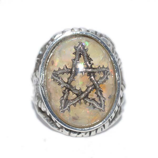 【限定】ALEX STREETER(アレックスストリーター)エンジェルハートリング オパールファイア ソーンスター Opal Fire Thorn Star