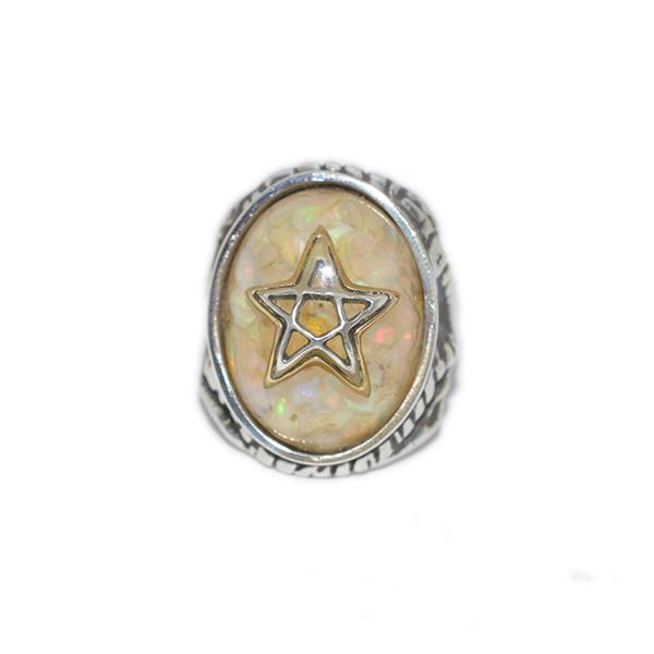 【限定】ALEX STREETER(アレックスストリーター)エンジェルハートリング オパールファイア ゴールドスター シャドウスター Opal Fire Gold Star Shadow Ster