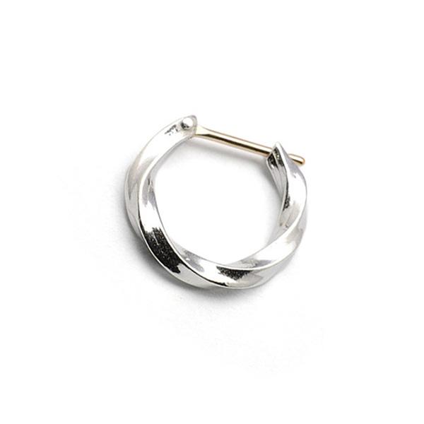 basis(ベイシス)bapi001 spiral hoop  pierce スパイラルフープピアス 【片耳】