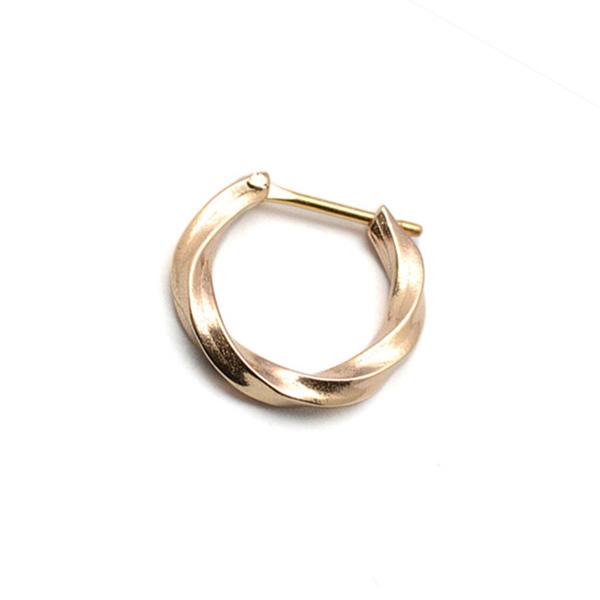 basis(ベイシス)bapi001-K10 spiral hoop pierce K10 スパイラルフープピアス 【片耳】