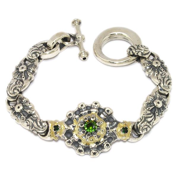 BWL(ビルウォールレザー)  B411-Custom #87 Sun Bracelet w/Peridot