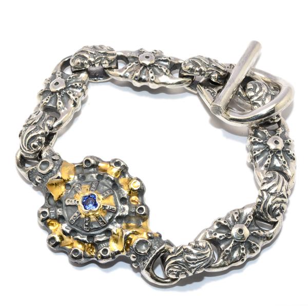 BWL(ビルウォールレザー) Custom SUN Bracelet w/Tanzanite サンブレスレット w/タンザナイト