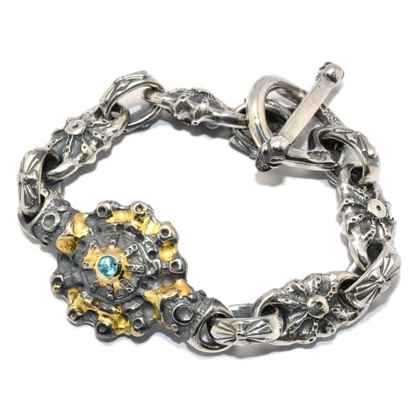 BWL(ビルウォールレザー) Custom SUN Bracelet w/Blue Topaz サンブレスレット w/ブルートパーズ