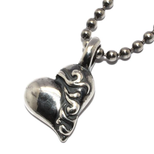 BWL(ビルウォールレザー)  Gothic heart charm w/Ball Chain ゴシックハートチャーム CB103