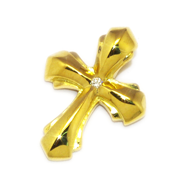 BWL(ビルウォールレザー) K18 Gold 2005Cross w/Dia  K18ゴールド2005クロスw/ダイヤチャーム ※要見積もり