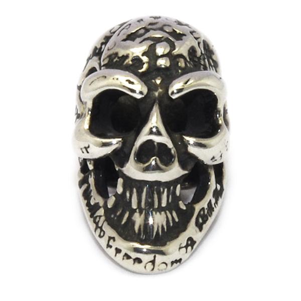BWL(ビルウォールレザー) C324GR Graffiti Skull Bead グラフィティースカルビーズ