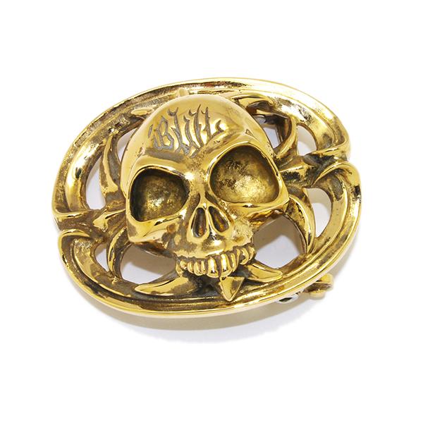 BWL(ビルウォールレザー)BB105B BWL Skull Buckle Bronze BWLスカルバックル ブロンズ